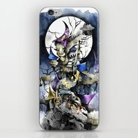 nightmare before christmas iPhone & iPod Skins featuring The nightmare before christmas by Sandra Ink