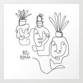"""""""Pot Heads"""" Art Print"""
