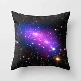 Colliding Galaxies Throw Pillow