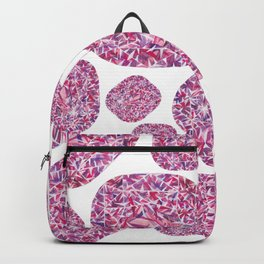 Pink Cushion Gem Pattern Backpack