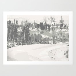 Once upon a time -winter Art Print