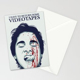 I have to return some videotapes Stationery Cards