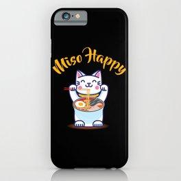 Miso Happy Funny Japanese Anime Cat Manga Gift iPhone Case