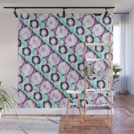 Horizontal Shadow Geometrics Lavender Wall Mural