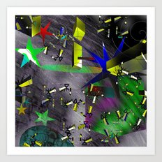Decaying Orbit Art Print