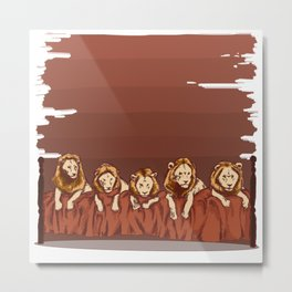 The Lion Sleeps Tonight Metal Print
