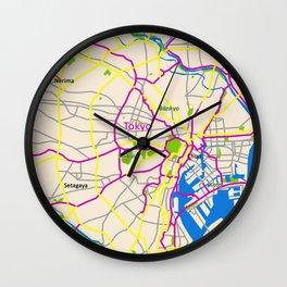Tokyo Map Design Wall Clock