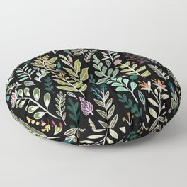 Dark Botanic Floor Pillow