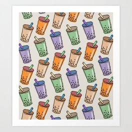 Bubble Tea Time Art Print