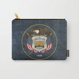 Utah State Flag in vintage retro style Carry-All Pouch