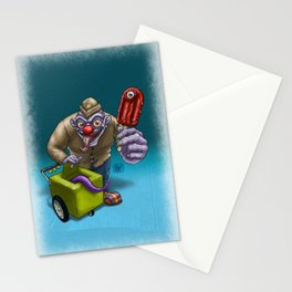 That weird guy by the corner... Stationery Cards