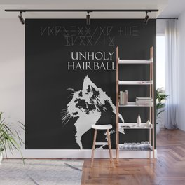 CAT METAL : Unblessing the Purrity - Unholy Hairball Wall Mural