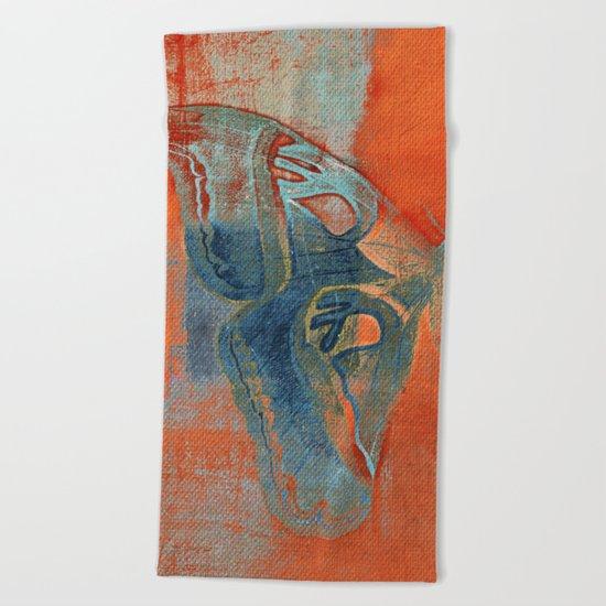 Moths 5  Beach Towel
