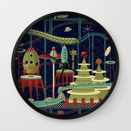 Fantastic Launch Station Wall Clock