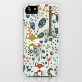 Rustic  Woodland Animals iPhone Case