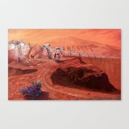 Martian Explorers Canvas Print