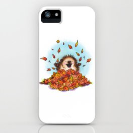 Fall Hedgie 2 iPhone Case