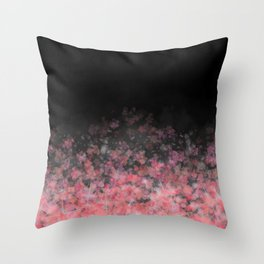 Black Floral Scatter Throw Pillow