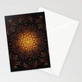 """Warm light Moroccan lantern Mandala"" Stationery Cards"