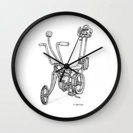 Cartoon Retro Mod Stingray 8-Track Muscle Bike Bicycle Stingray Wall Clock