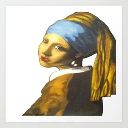 Girl with the Pearl Earring Art Print