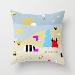 all you need is LOL Throw Pillow