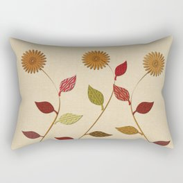 Giving Thanks Floral Collage Rectangular Pillow