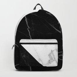 half black half white marble Backpack