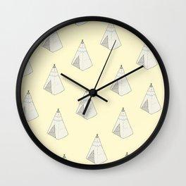 Tents Wall Clock