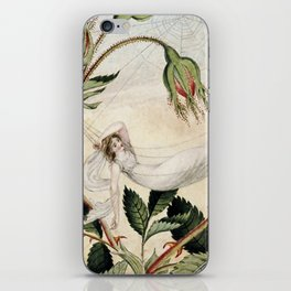 """""""A Fairy Resting in a Hammock"""" by Amelia Jane Murray iPhone Skin"""