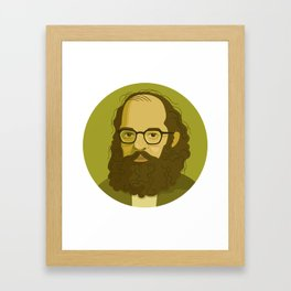 Queer Portrait - Allen Ginsberg Framed Art Print