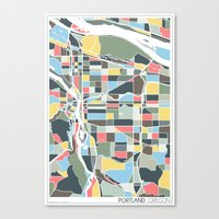 portland Canvas Prints featuring Portland. by Studio Tesouro