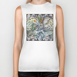 Abstract Flower Pattern Biker Tank