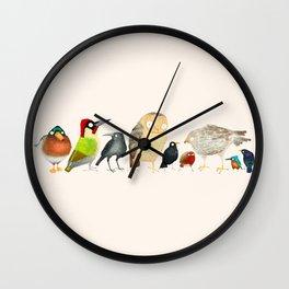 Woodland Bird Collection Wall Clock