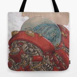 Red Ship Rising Tote Bag