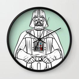 Dark vader in mint Wall Clock