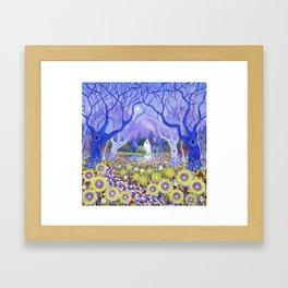 Wood Cottage Framed Art Print