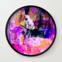 celestial Wall Clocks featuring Celestial by Amy Sia