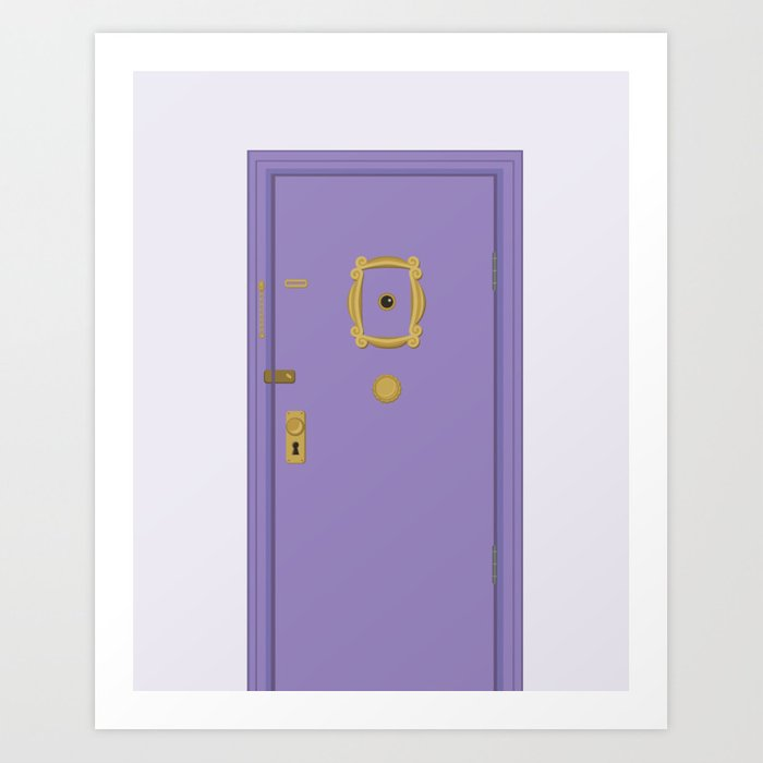 Purple Door Friends Apartment Art Print