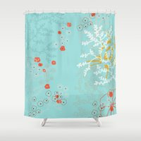 under the sea Shower Curtains featuring Under the Sea by Simi Design