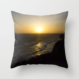Cliff Top Sunset Throw Pillow