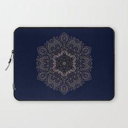 Temptation - Mandala 1 on Blue Backgound  Laptop Sleeve