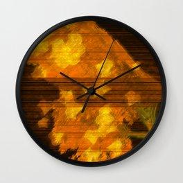 Golden Fall Wall Clock