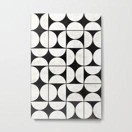 Mid-Century Modern Pattern No.2 - Concrete Metal Print