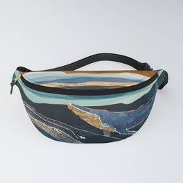 Moonlit Whales Fanny Pack