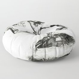 Wound-up: The Pitcher Floor Pillow
