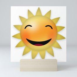 Smiling happy sun Mini Art Print