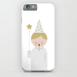 Singing boy with a star at Saint Lucy at Christmas iPhone Case