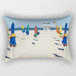 Beach Day in Deauville Rectangular Pillow