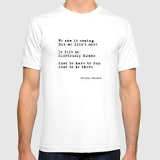 Gloriously Human (poem) White MEDIUM Mens Fitted Tee